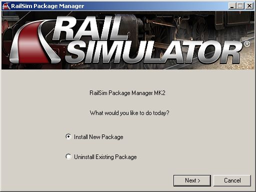 Rail Simulator Package Manager