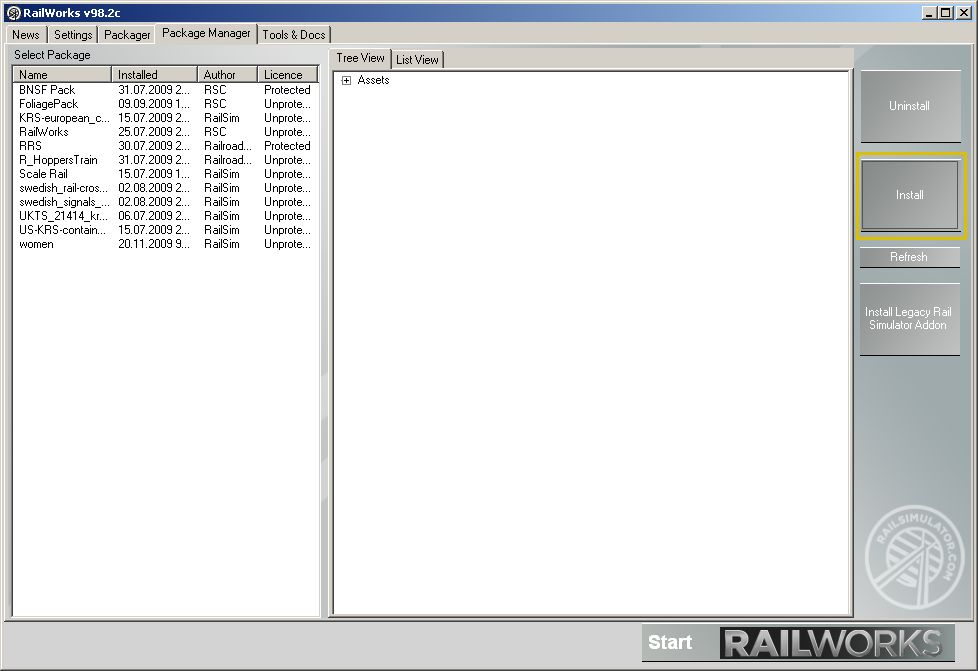 RailWorks Package Manager